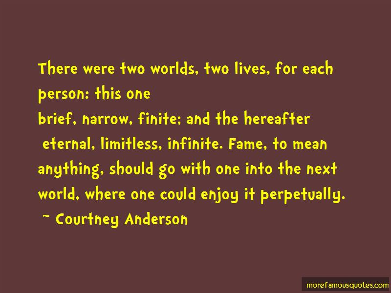 Courtney Anderson Quotes
