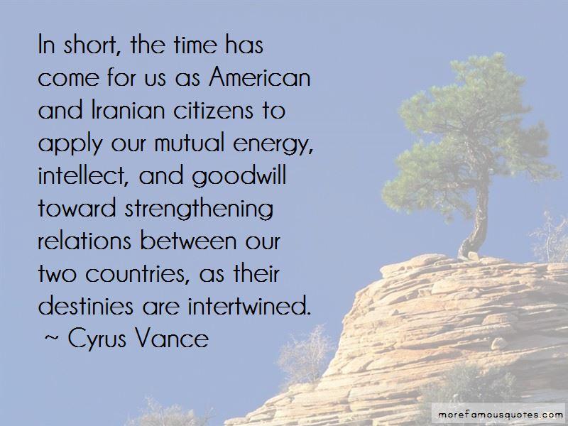 Cyrus Vance Quotes