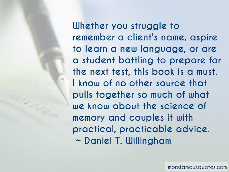 Daniel T. Willingham Quotes Pictures 2