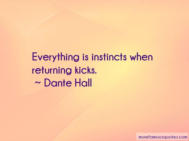 Dante Hall Quotes