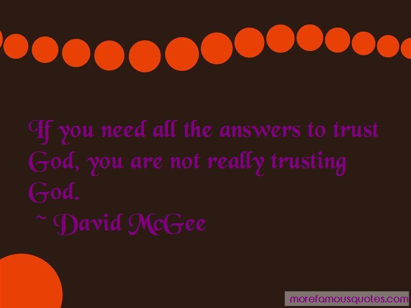 David McGee Quotes