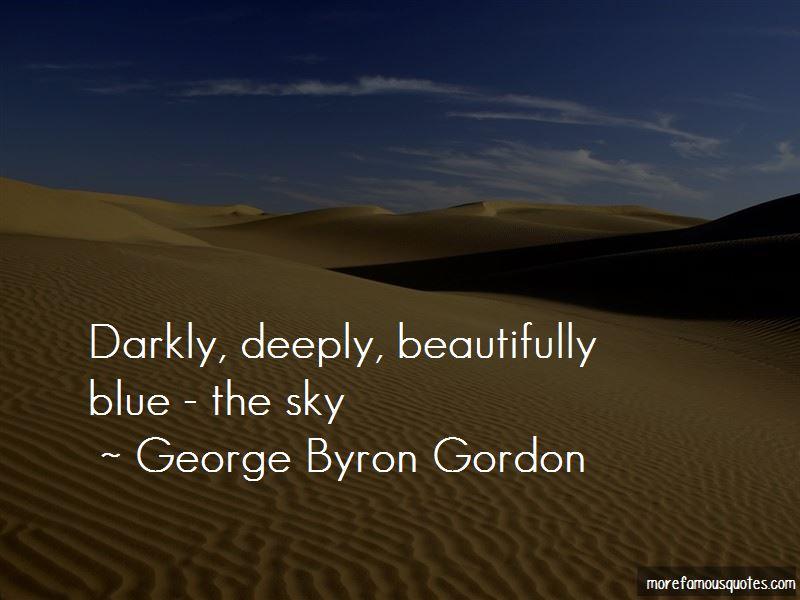 George Byron Gordon Quotes