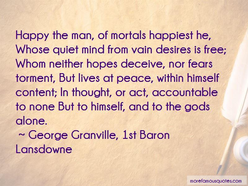 George Granville, 1st Baron Lansdowne Quotes