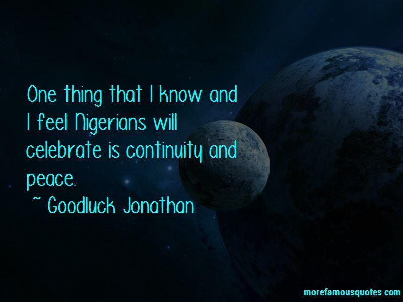 Goodluck Jonathan Quotes