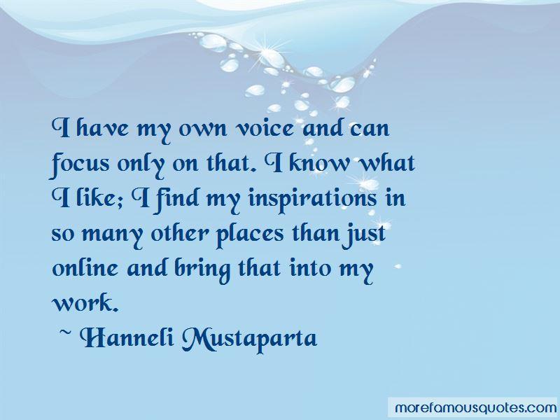 Hanneli Mustaparta Quotes Pictures 3