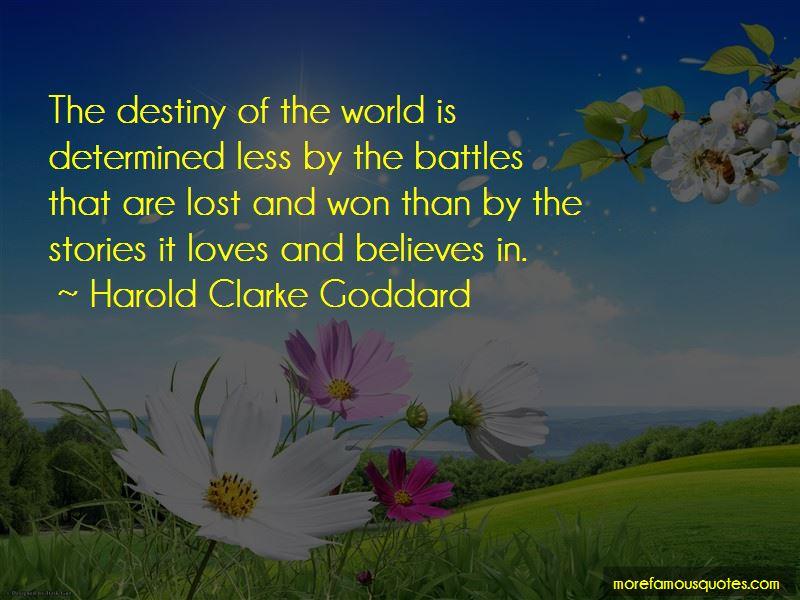 Harold Clarke Goddard Quotes