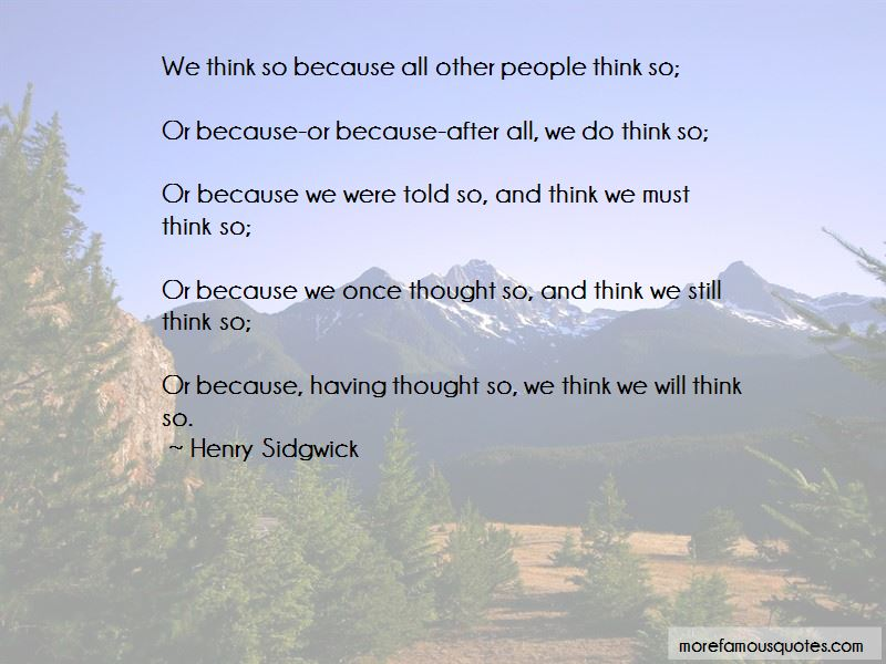 Henry Sidgwick Quotes Pictures 2