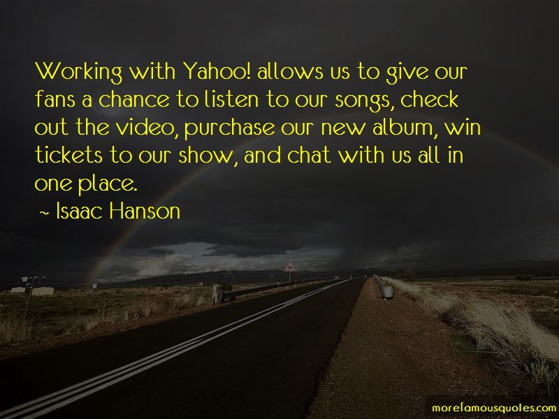 Isaac Hanson Quotes Pictures 2