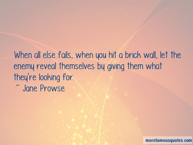 Jane Prowse Quotes