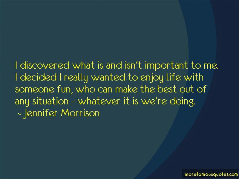 Jennifer Morrison Quotes