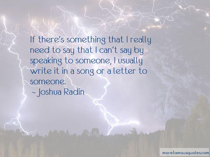 Joshua Radin Quotes