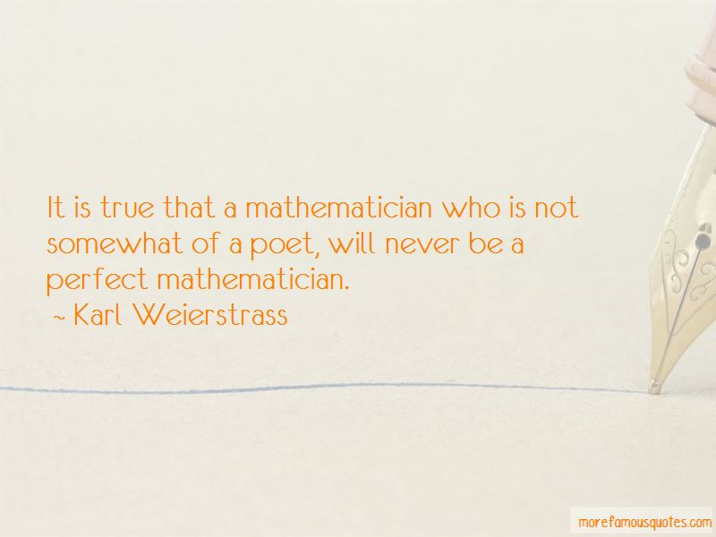 Karl Weierstrass Quotes Pictures 3