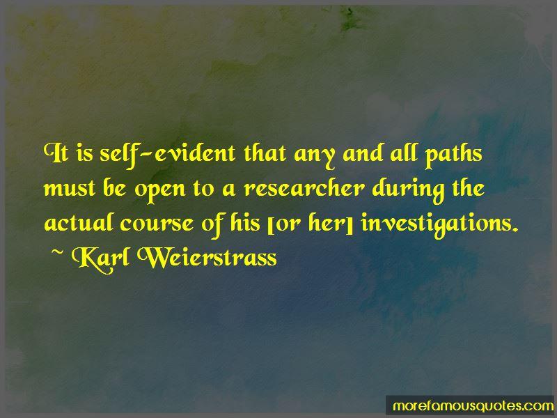 Karl Weierstrass Quotes