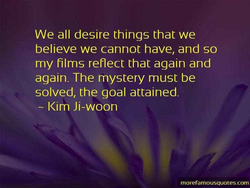 Kim Ji-woon Quotes