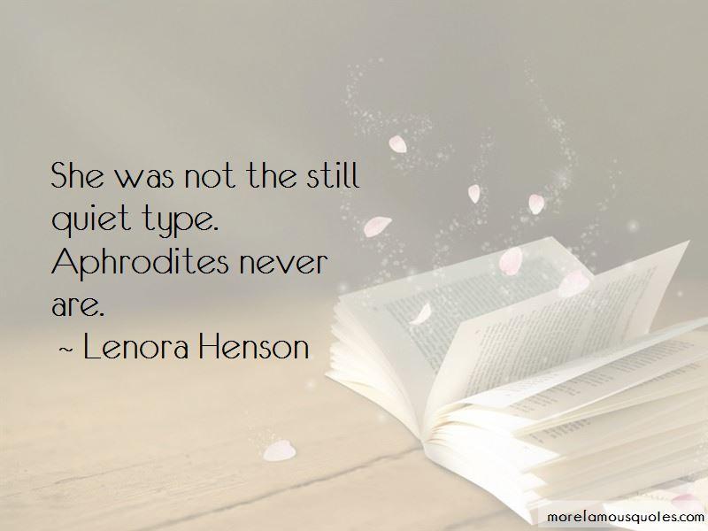 Lenora Henson Quotes Pictures 2