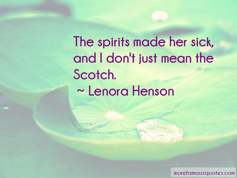 Lenora Henson Quotes