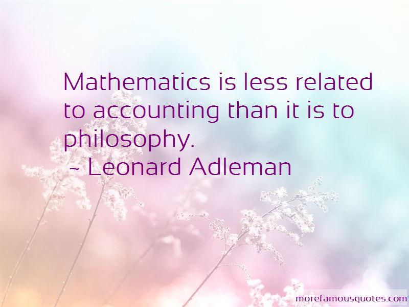 Leonard Adleman Quotes