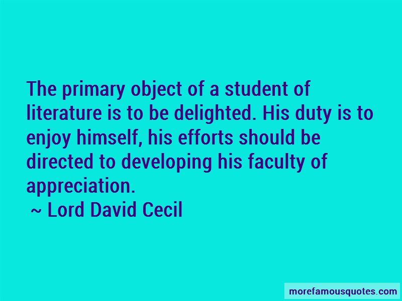 Lord David Cecil Quotes