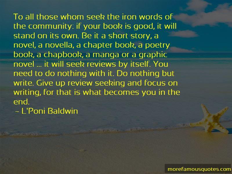L'Poni Baldwin Quotes