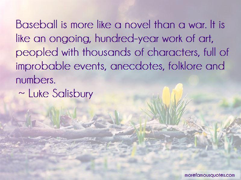 Luke Salisbury Quotes