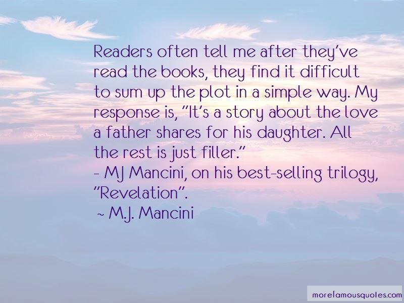 M.J. Mancini Quotes