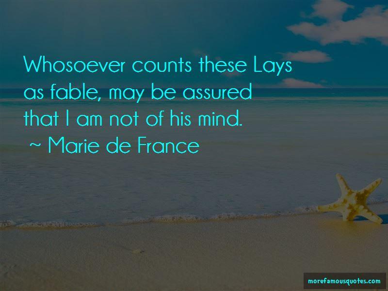 Marie De France Quotes