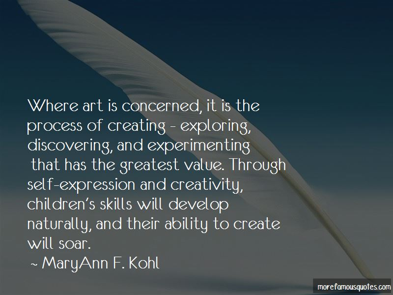 MaryAnn F. Kohl Quotes Pictures 3