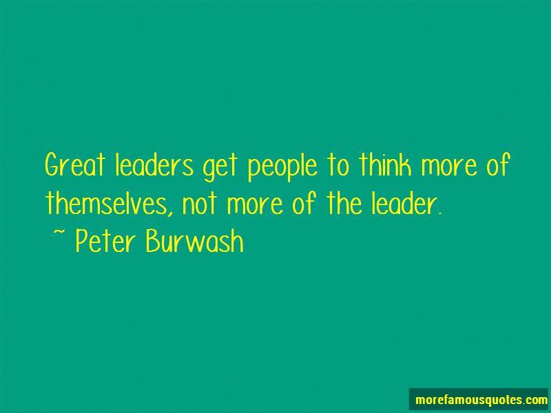 Peter Burwash Quotes Pictures 3