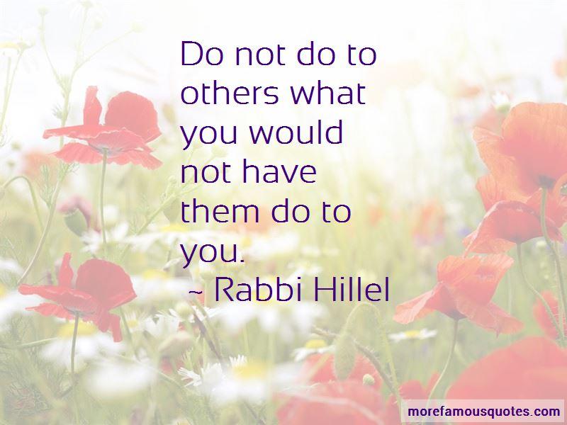 Rabbi Hillel Quotes