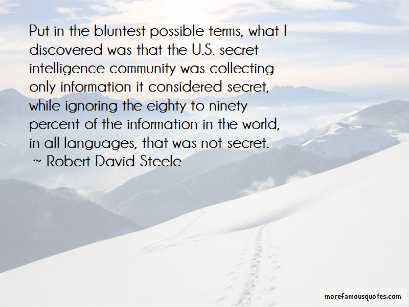 Robert David Steele Quotes Pictures 4
