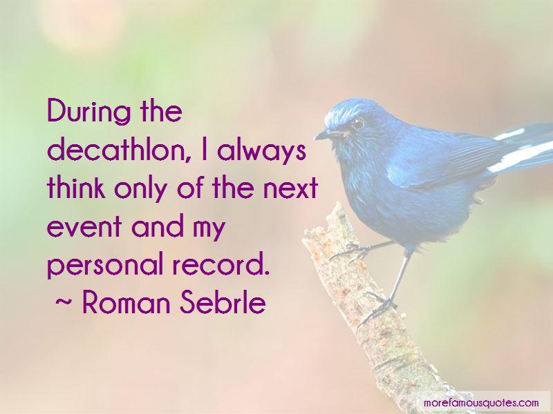 Roman Sebrle Quotes