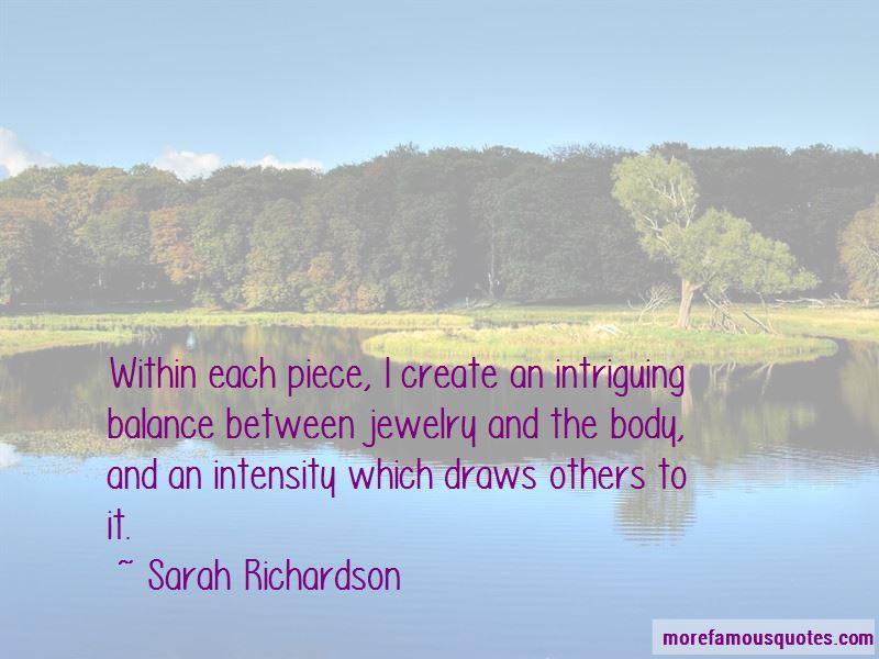 Sarah Richardson Quotes