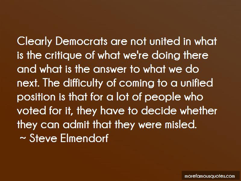 Steve Elmendorf Quotes