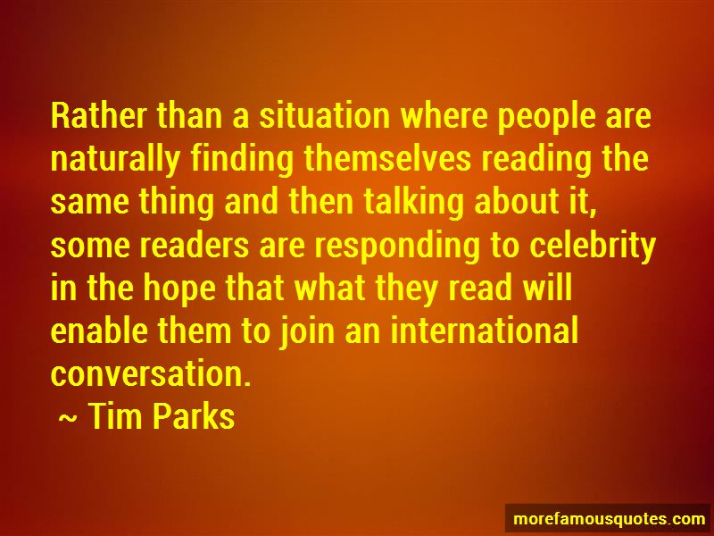 Tim Parks Quotes Pictures 3