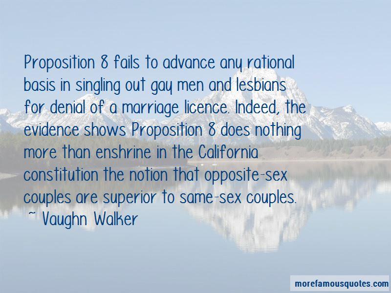 Vaughn Walker Quotes