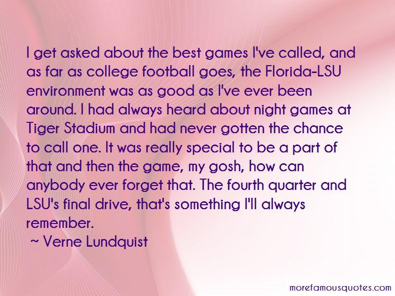 Verne Lundquist Quotes