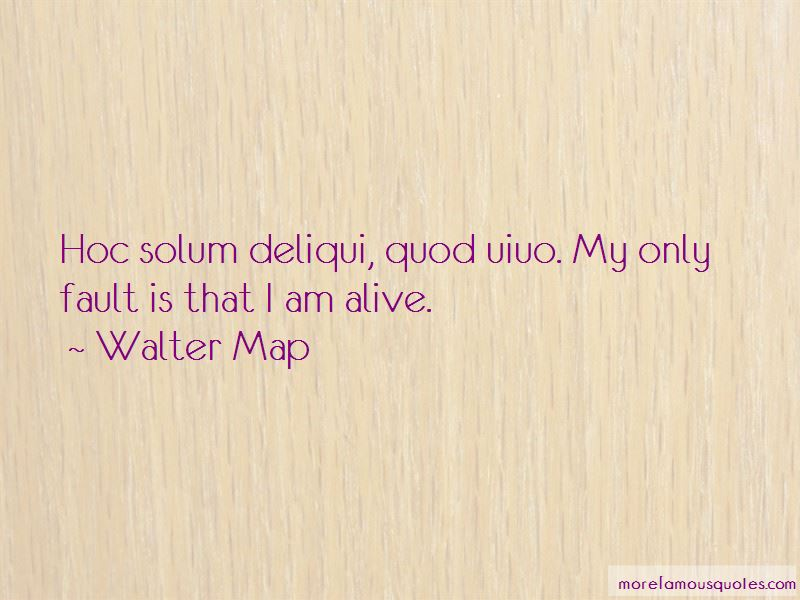 Walter Map Quotes