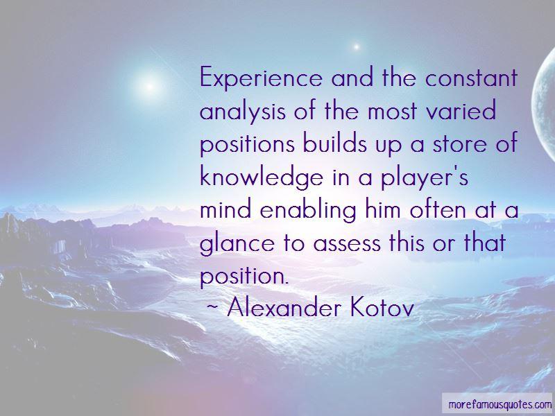 Alexander Kotov Quotes