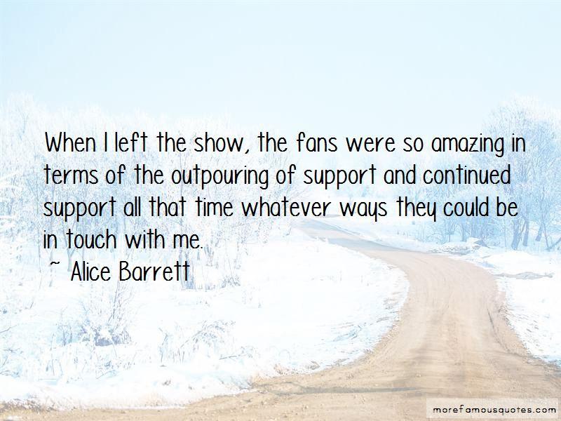 Alice Barrett Quotes
