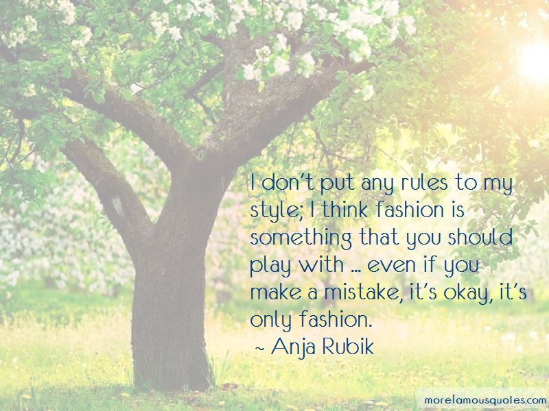 Anja Rubik Quotes Pictures 3