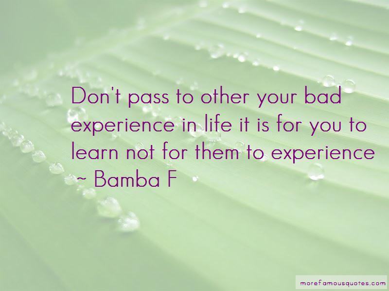 Bamba F Quotes