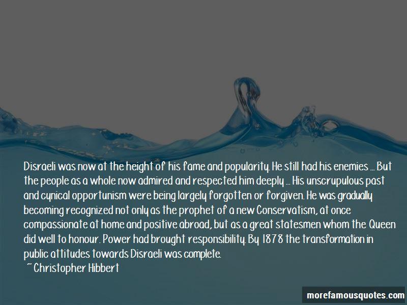 Christopher Hibbert Quotes