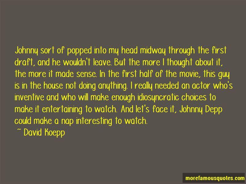 David Koepp Quotes
