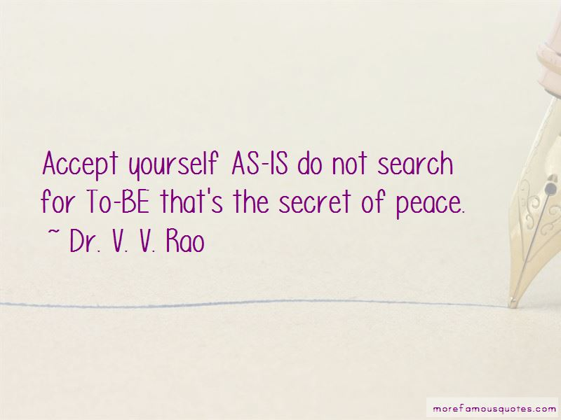 Dr. V. V. Rao Quotes