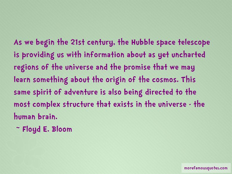 Floyd E. Bloom Quotes