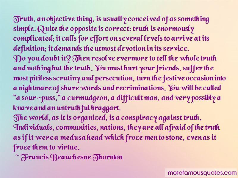 Francis Beauchesne Thornton Quotes