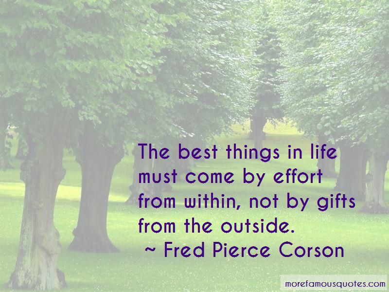 Fred Pierce Corson Quotes