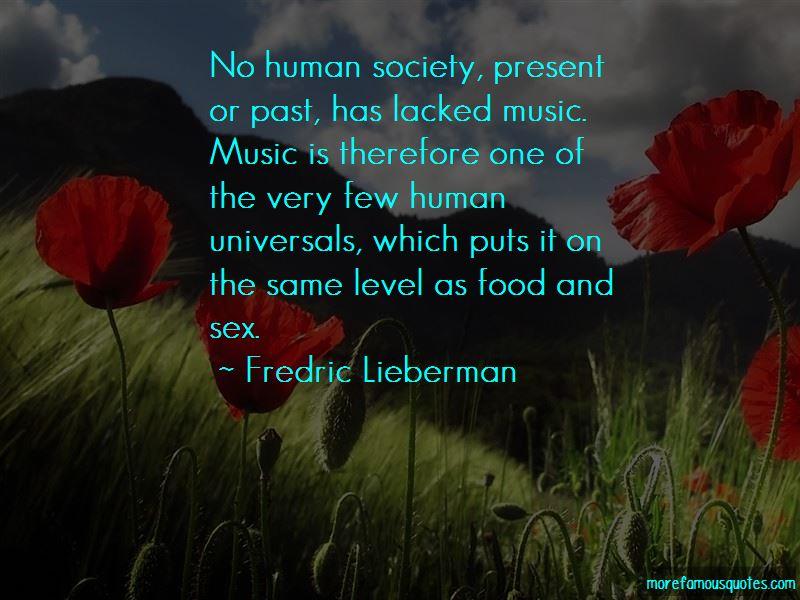 Fredric Lieberman Quotes