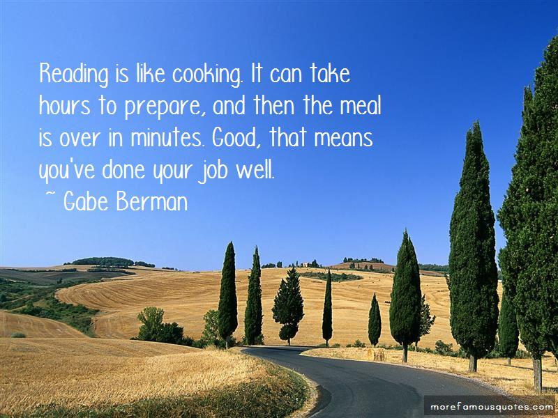 Gabe Berman Quotes
