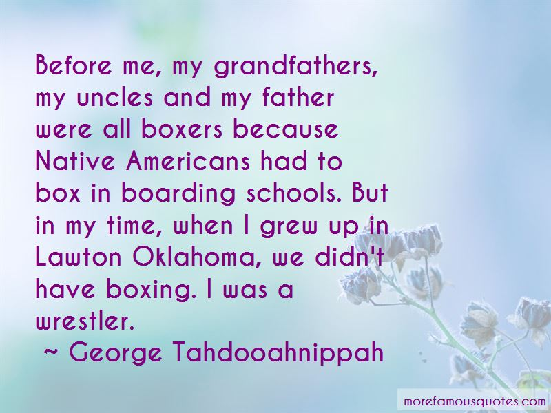 George Tahdooahnippah Quotes